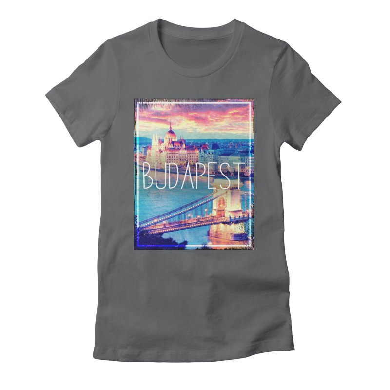 Budapest, Hungary, vintage Women's Fitted T-Shirt by ALMA VISUAL's Artist Shop