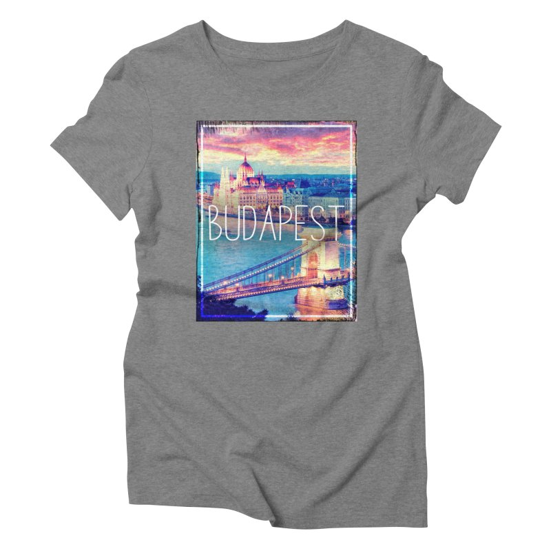 Budapest, Hungary, vintage Women's Triblend T-Shirt by ALMA VISUAL's Artist Shop