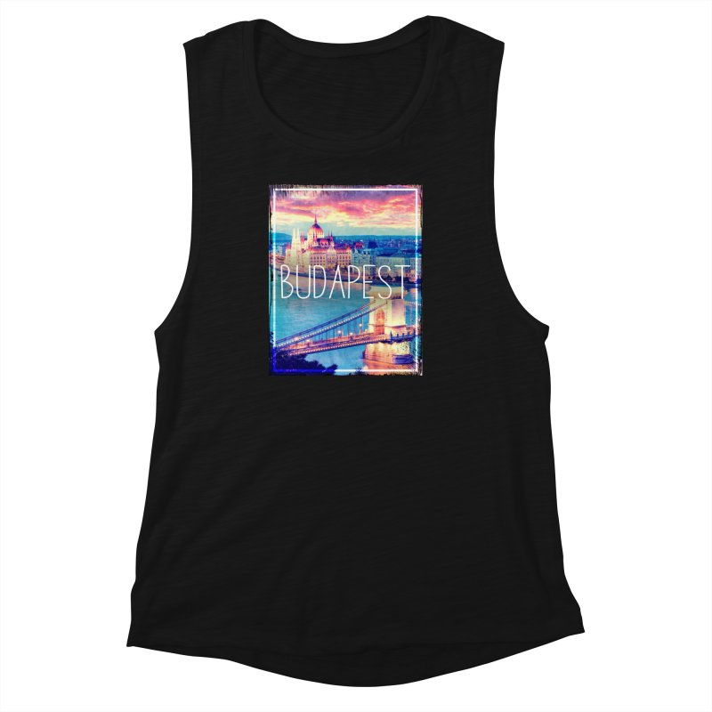 Budapest, Hungary, vintage Women's Muscle Tank by ALMA VISUAL's Artist Shop