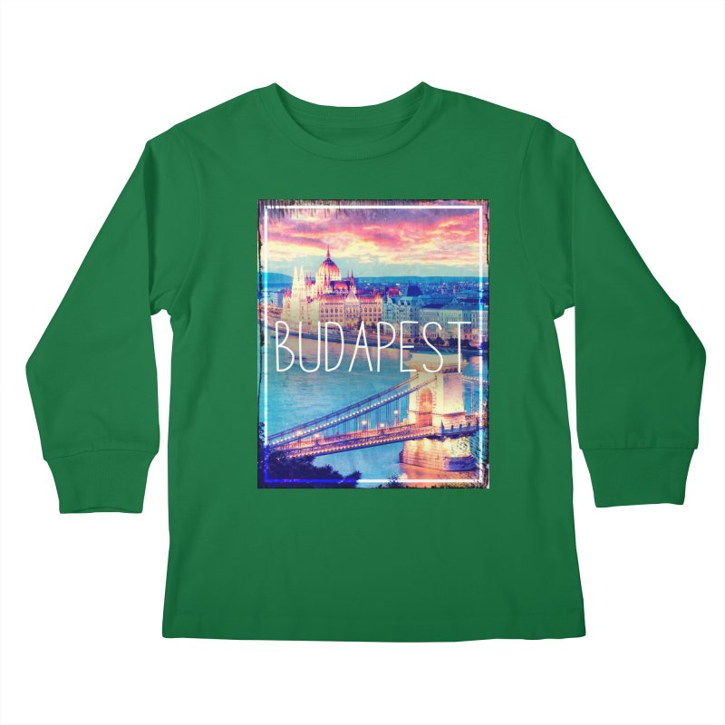 Budapest, Hungary, vintage Kids Longsleeve T-Shirt by ALMA VISUAL's Artist Shop
