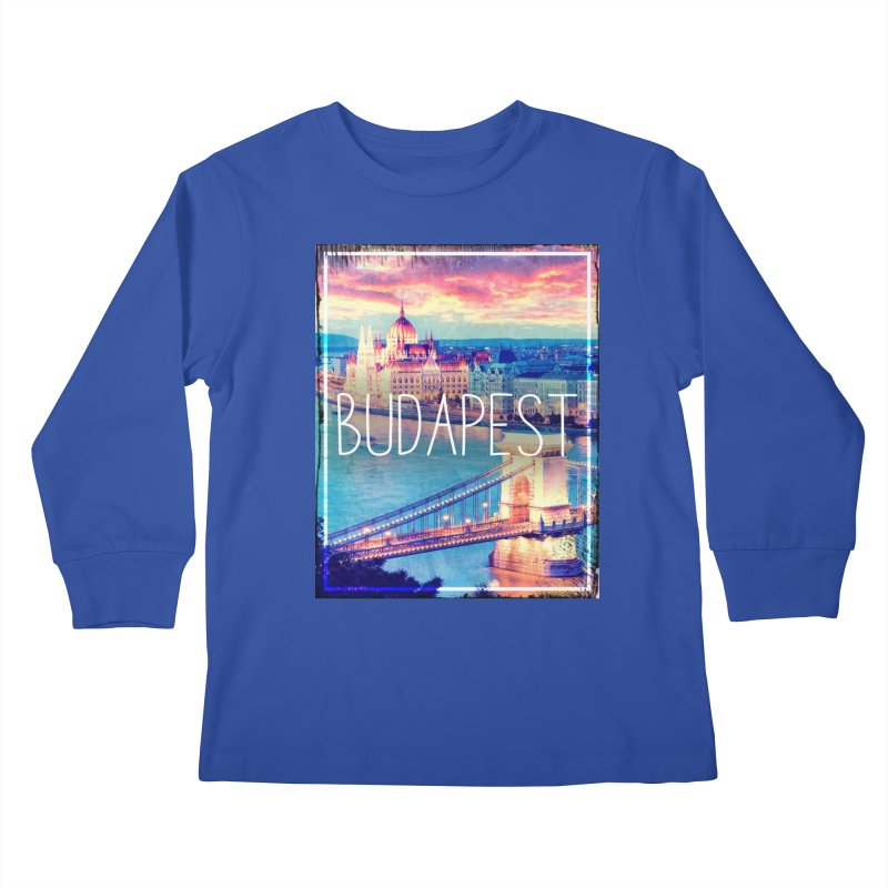 Budapest, Hungary, vintage Kids Longsleeve T-Shirt by ALMA VISUAL's Artist Shop
