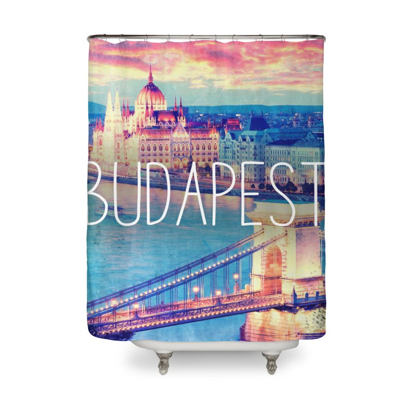 Budapest, Hungary, vintage Home Shower Curtain by ALMA VISUAL's Artist Shop