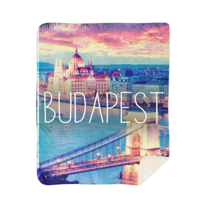 Budapest, Hungary, vintage Home Sherpa Blanket Blanket by ALMA VISUAL's Artist Shop