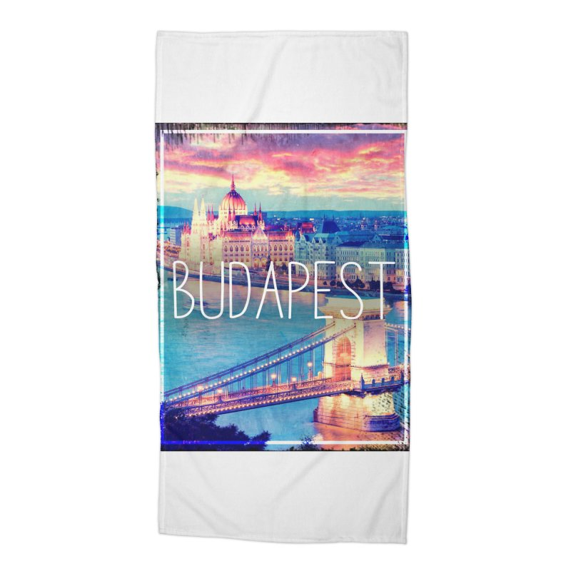 Budapest, Hungary, vintage Accessories Beach Towel by ALMA VISUAL's Artist Shop