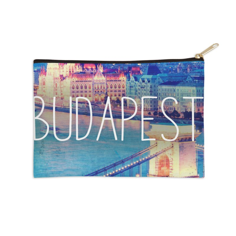 Budapest, Hungary, vintage Accessories Zip Pouch by ALMA VISUAL's Artist Shop