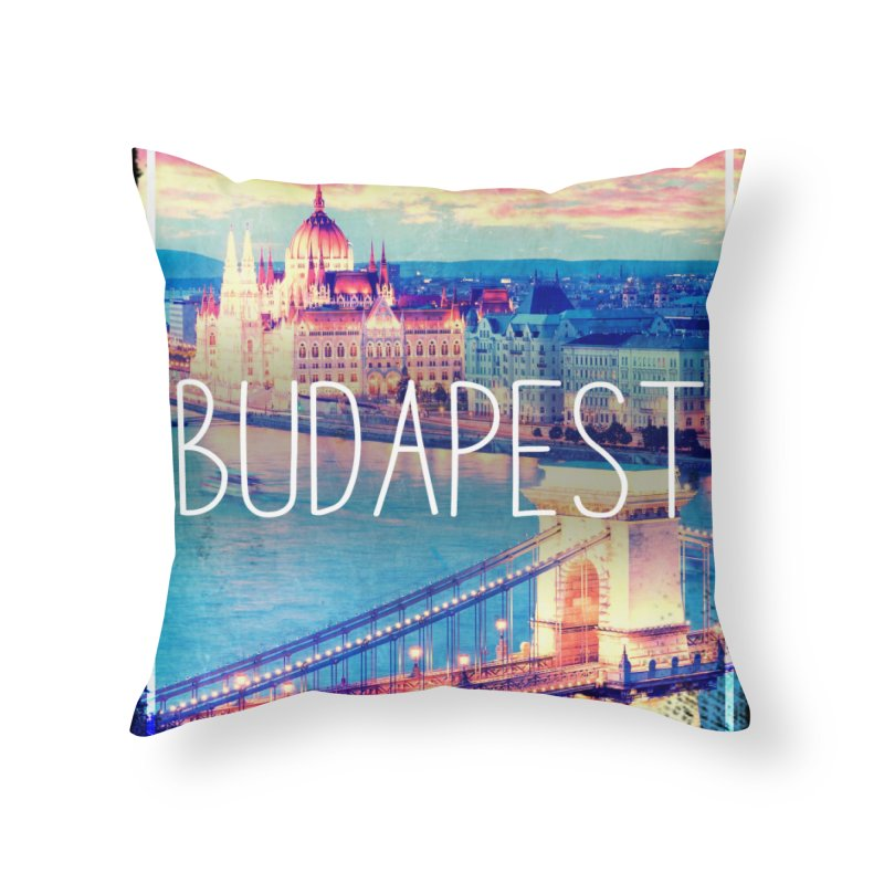 Budapest, Hungary, vintage Home Throw Pillow by ALMA VISUAL's Artist Shop