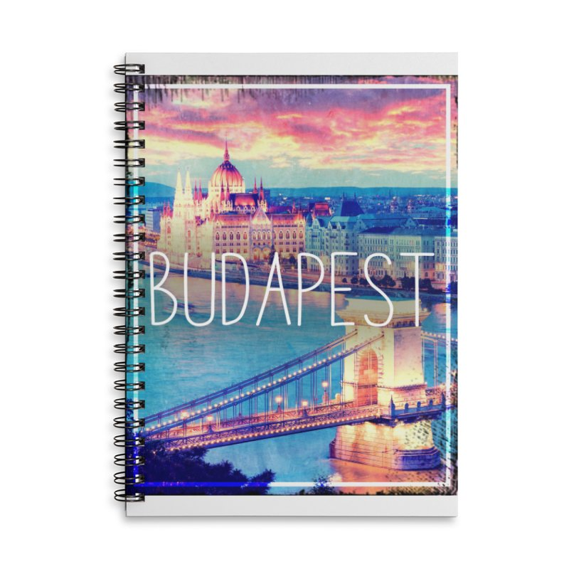 Budapest, Hungary, vintage Accessories Lined Spiral Notebook by ALMA VISUAL's Artist Shop