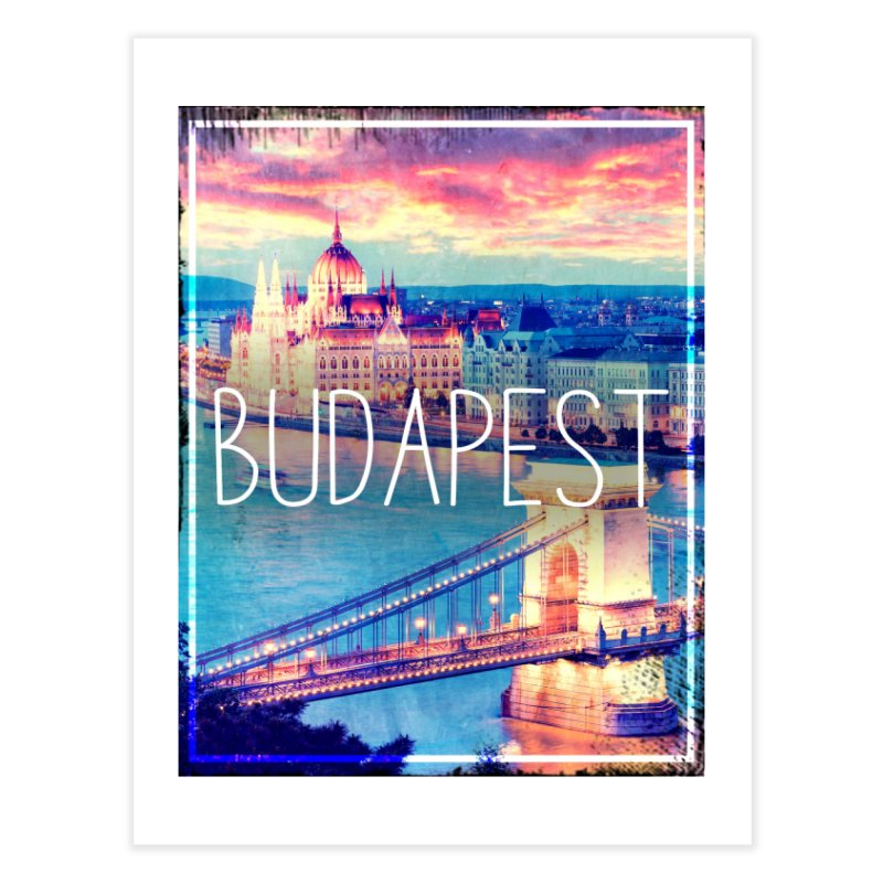 Budapest, Hungary, vintage Home Fine Art Print by ALMA VISUAL's Artist Shop
