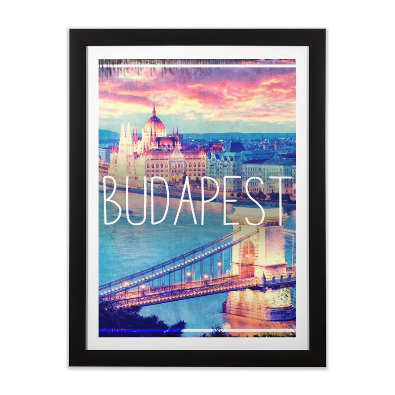 Budapest, Hungary, vintage Home Framed Fine Art Print by ALMA VISUAL's Artist Shop