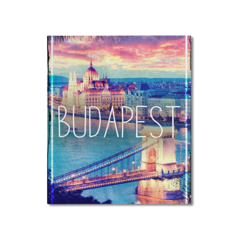 Budapest, Hungary, vintage Home Mounted Aluminum Print by ALMA VISUAL's Artist Shop