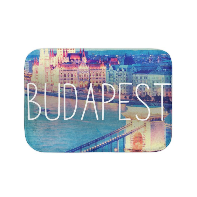 Budapest, Hungary, vintage Home Bath Mat by ALMA VISUAL's Artist Shop