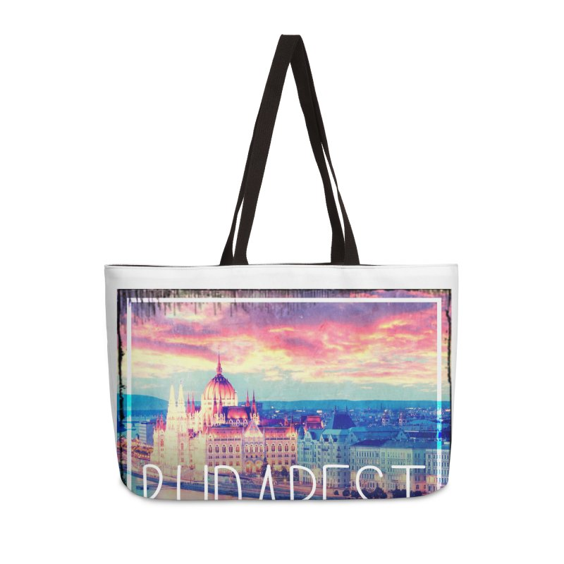Budapest, Hungary, vintage Accessories Weekender Bag Bag by ALMA VISUAL's Artist Shop