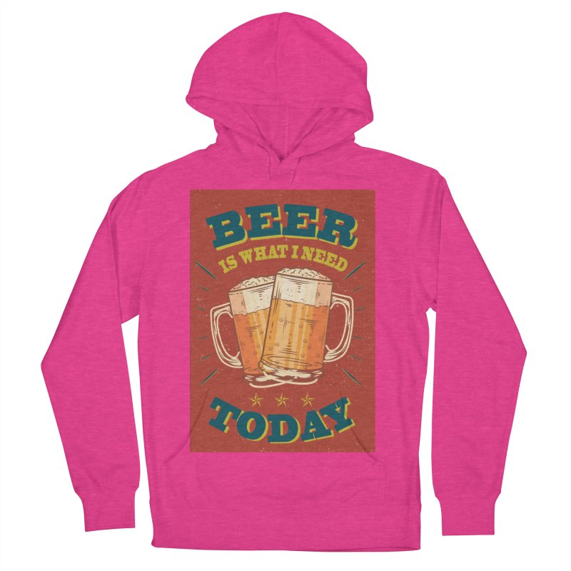 Beer is what i need today, vintage poster Men's French Terry Pullover Hoody by ALMA VISUAL's Artist Shop