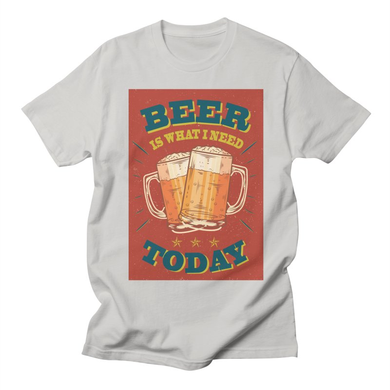 Beer is what i need today, vintage poster Men's Regular T-Shirt by ALMA VISUAL's Artist Shop
