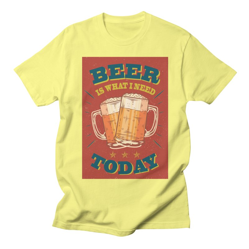 Beer is what i need today, vintage poster Men's T-Shirt by ALMA VISUAL's Artist Shop