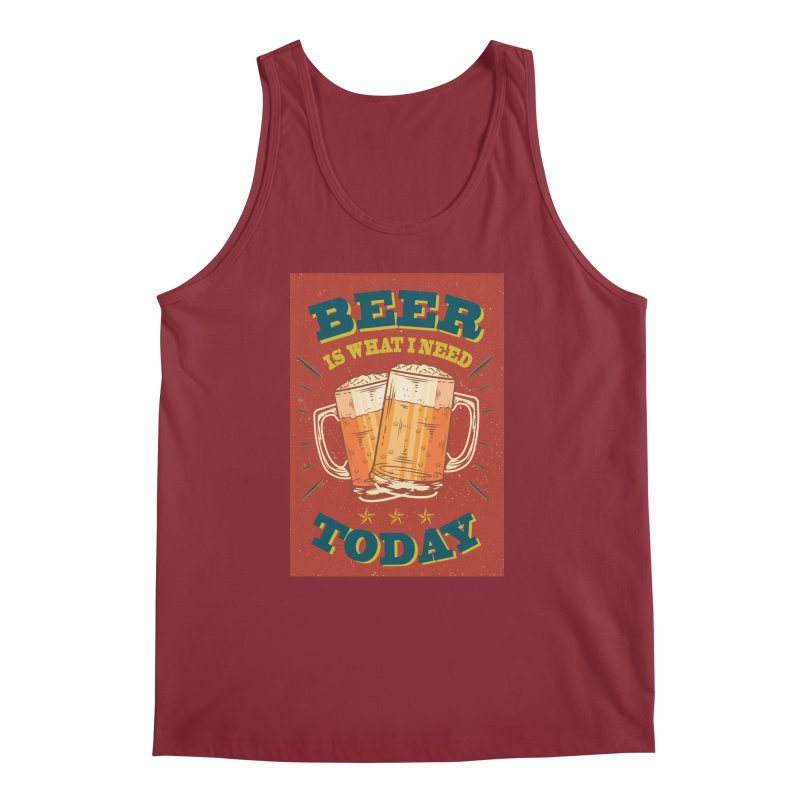 Beer is what i need today, vintage poster Men's Tank by ALMA VISUAL's Artist Shop