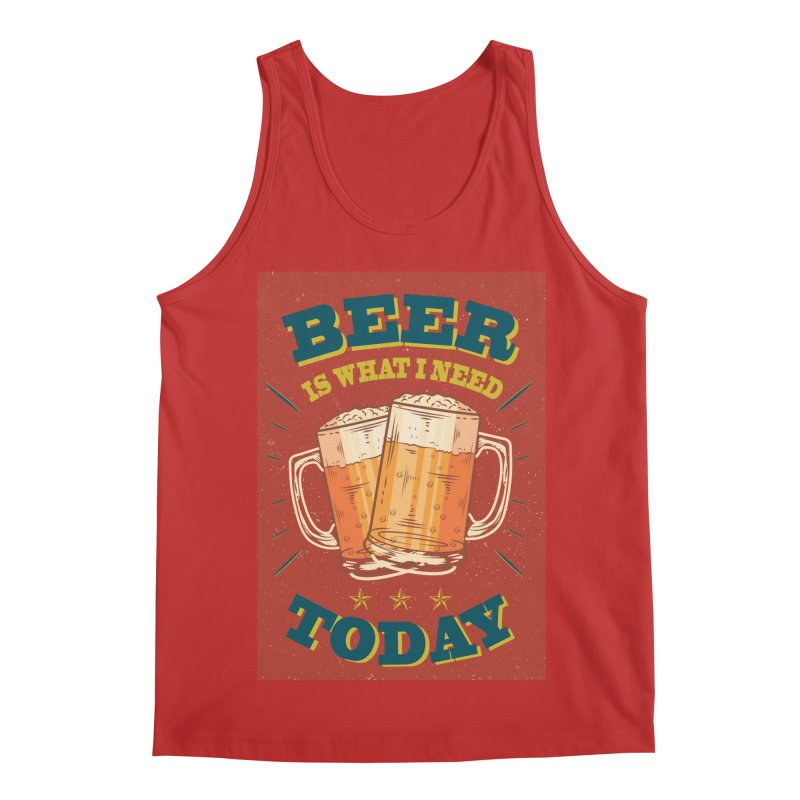 Beer is what i need today, vintage poster Men's Regular Tank by ALMA VISUAL's Artist Shop