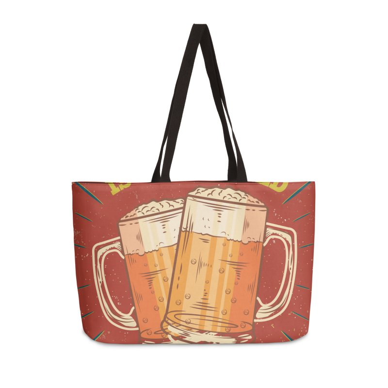Beer is what i need today, vintage poster Accessories Weekender Bag Bag by ALMA VISUAL's Artist Shop