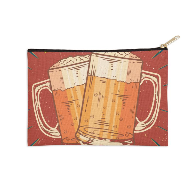 Beer is what i need today, vintage poster Accessories Zip Pouch by ALMA VISUAL's Artist Shop