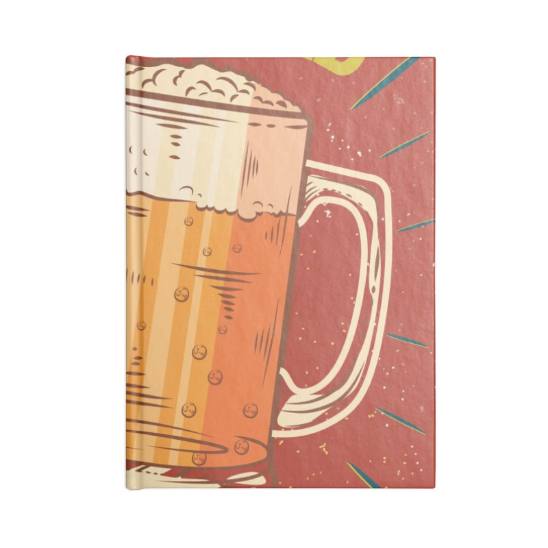 Beer is what i need today, vintage poster Accessories Lined Journal Notebook by ALMA VISUAL's Artist Shop