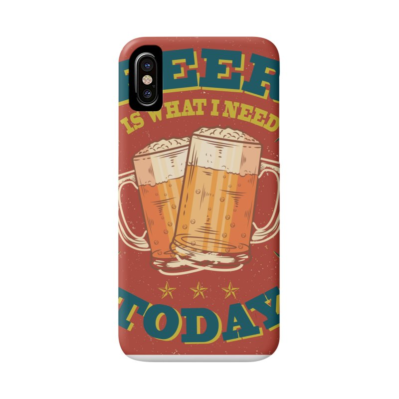 Beer is what i need today, vintage poster Accessories Phone Case by ALMA VISUAL's Artist Shop