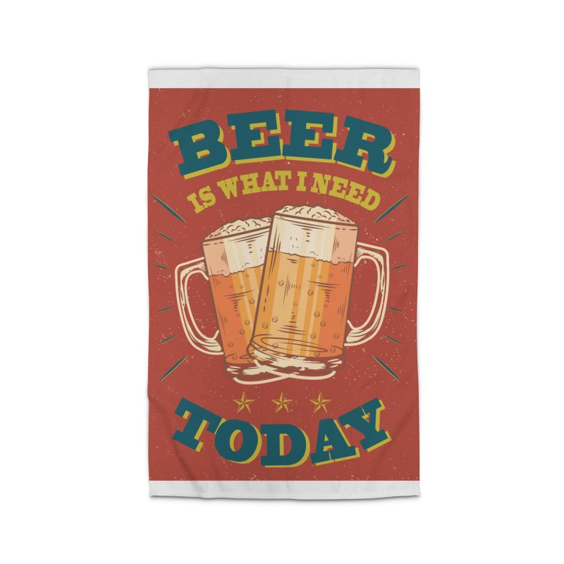 Beer is what i need today, vintage poster Home Rug by ALMA VISUAL's Artist Shop