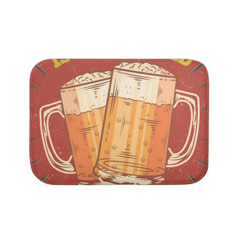 Beer is what i need today, vintage poster Home Bath Mat by ALMA VISUAL's Artist Shop