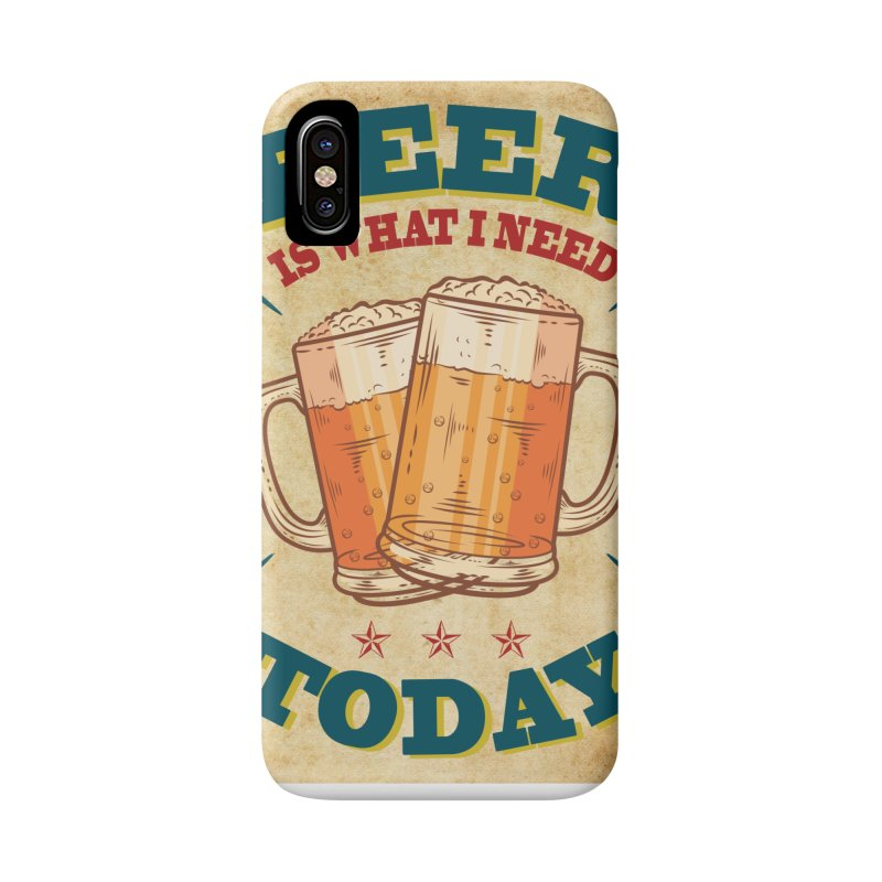 Beer is what i need today, vintage poster, old paper texture Accessories Phone Case by ALMA VISUAL's Artist Shop