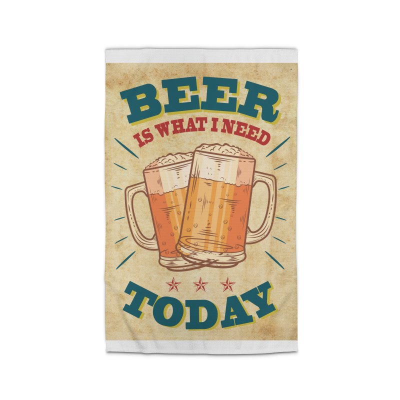 Beer is what i need today, vintage poster, old paper texture Home Rug by ALMA VISUAL's Artist Shop
