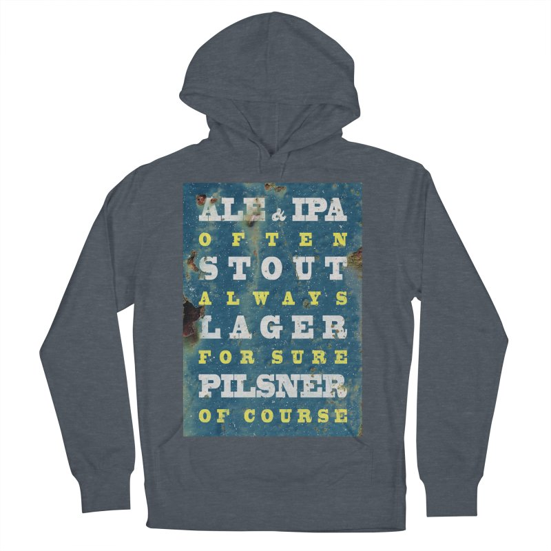 Beer always, metal background poster Women's French Terry Pullover Hoody by ALMA VISUAL's Artist Shop