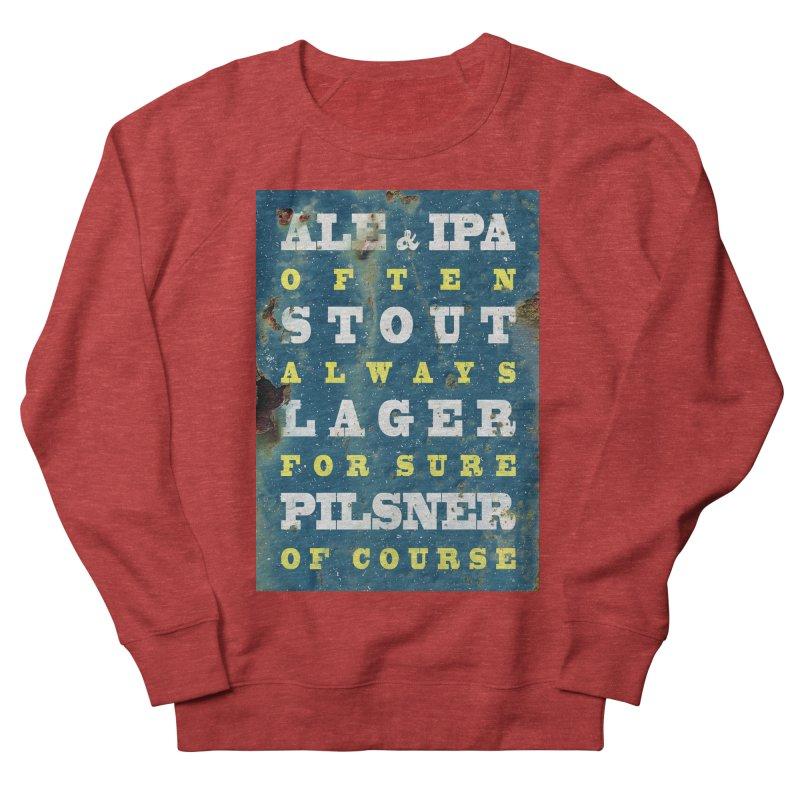 Beer always, metal background poster Women's Sweatshirt by ALMA VISUAL's Artist Shop
