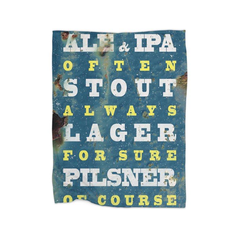 Beer always, metal background poster Home Blanket by ALMA VISUAL's Artist Shop
