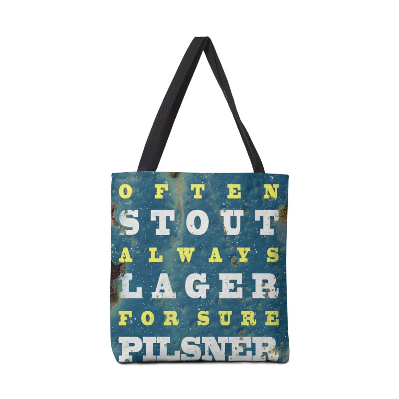 Beer always, metal background poster Accessories Tote Bag Bag by ALMA VISUAL's Artist Shop