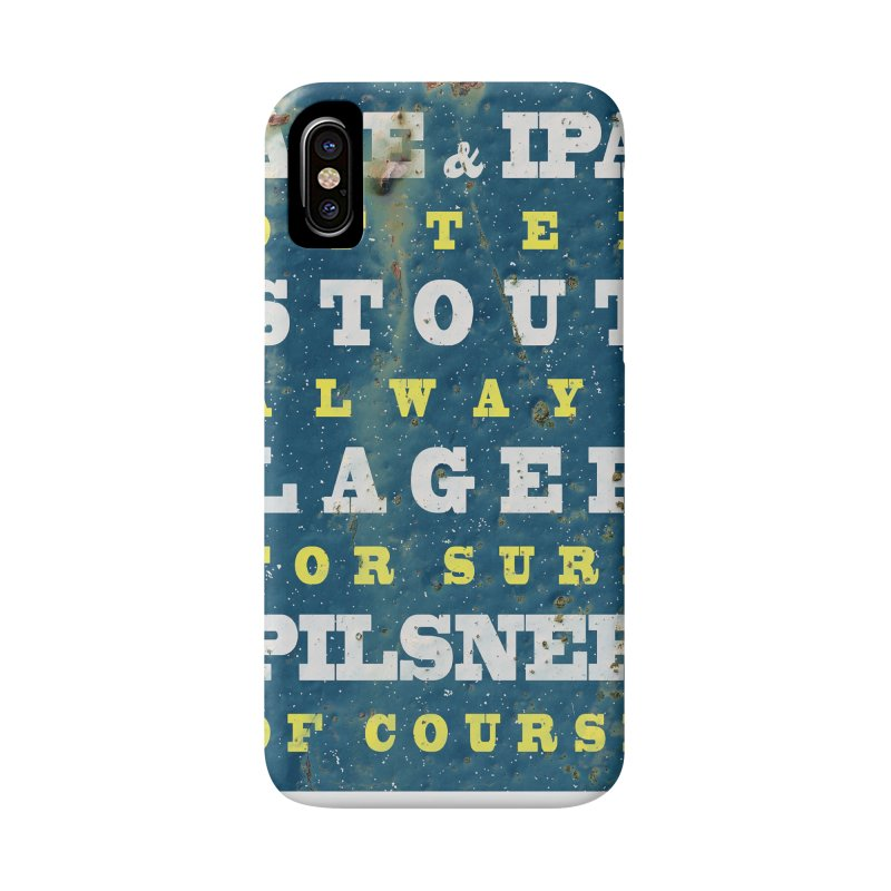 Beer always, metal background poster Accessories Phone Case by ALMA VISUAL's Artist Shop