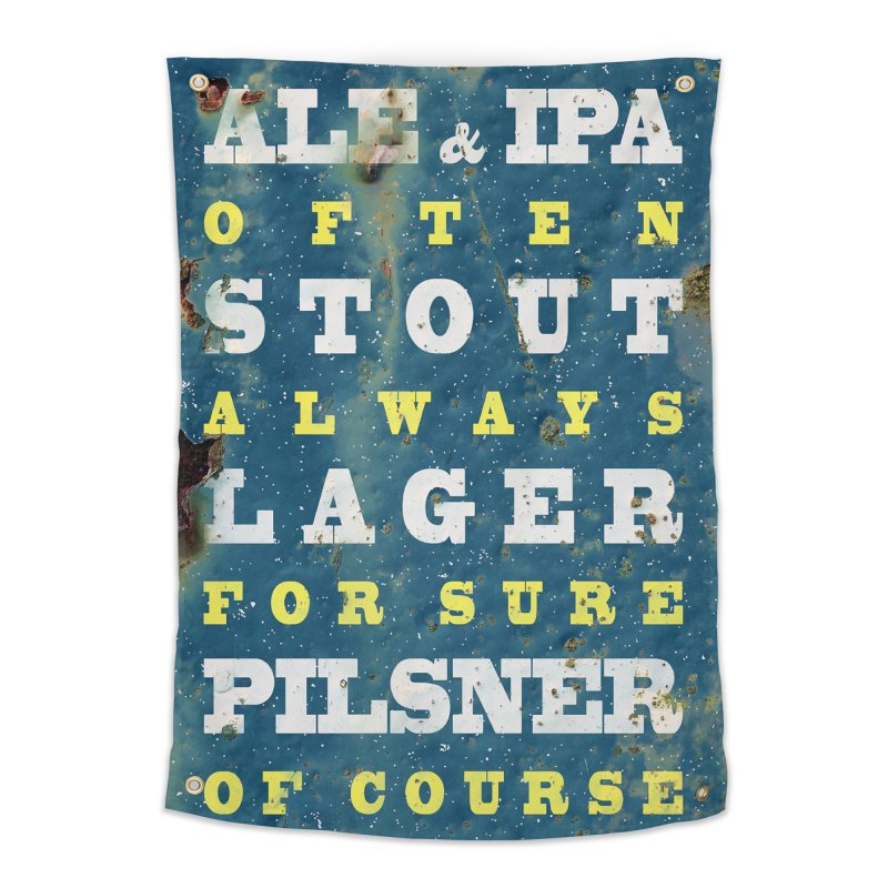 Beer always, metal background poster Home Tapestry by ALMA VISUAL's Artist Shop
