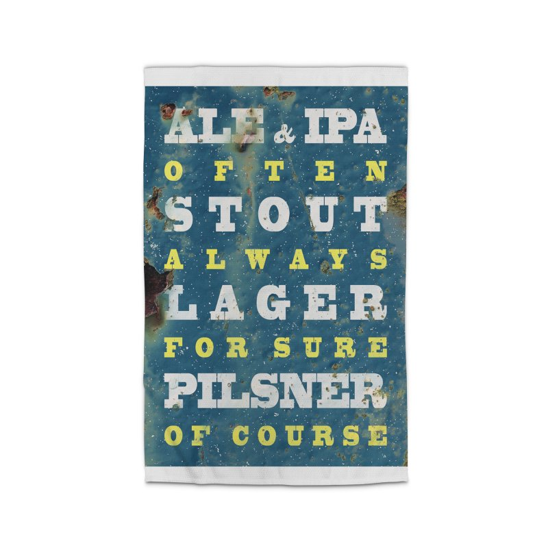Beer always, metal background poster Home Rug by ALMA VISUAL's Artist Shop