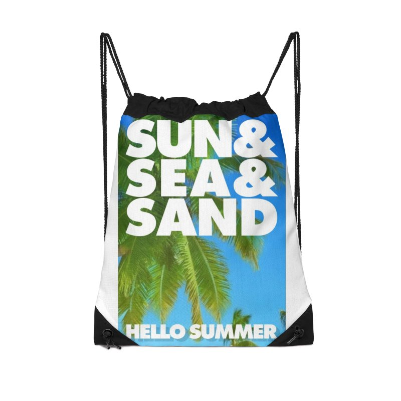 Hello Summer Accessories Drawstring Bag Bag by ALMA VISUAL's Artist Shop