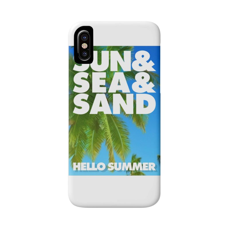 Hello Summer Accessories Phone Case by ALMA VISUAL's Artist Shop