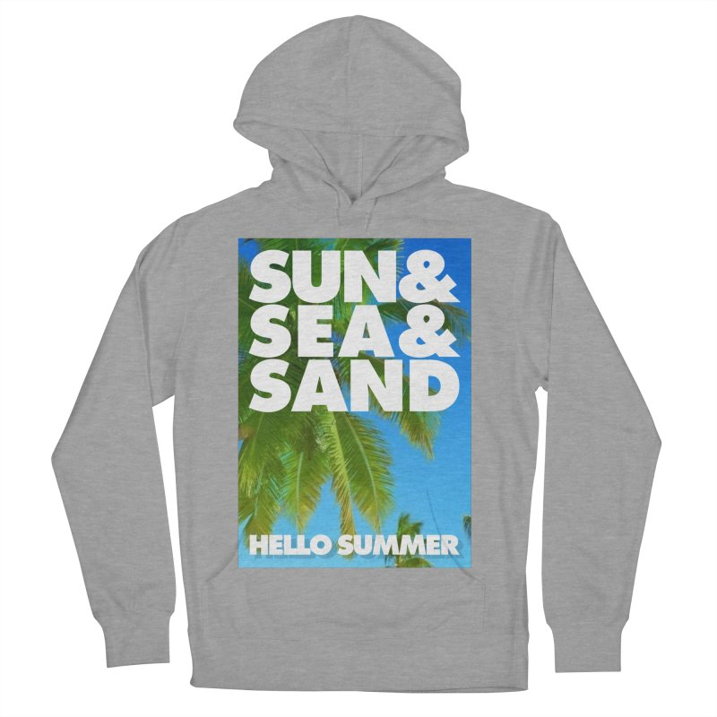 Hello Summer Women's French Terry Pullover Hoody by ALMA VISUAL's Artist Shop