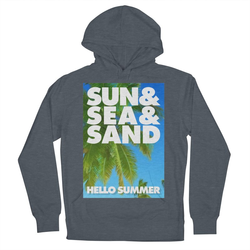 Hello Summer Men's French Terry Pullover Hoody by ALMA VISUAL's Artist Shop