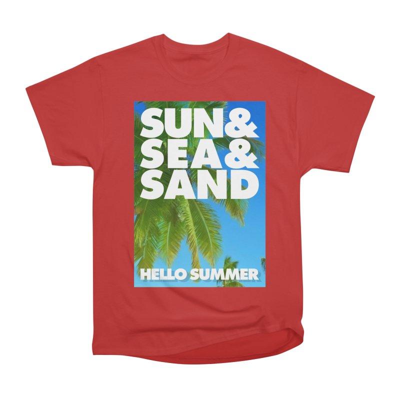 Hello Summer Women's Heavyweight Unisex T-Shirt by ALMA VISUAL's Artist Shop