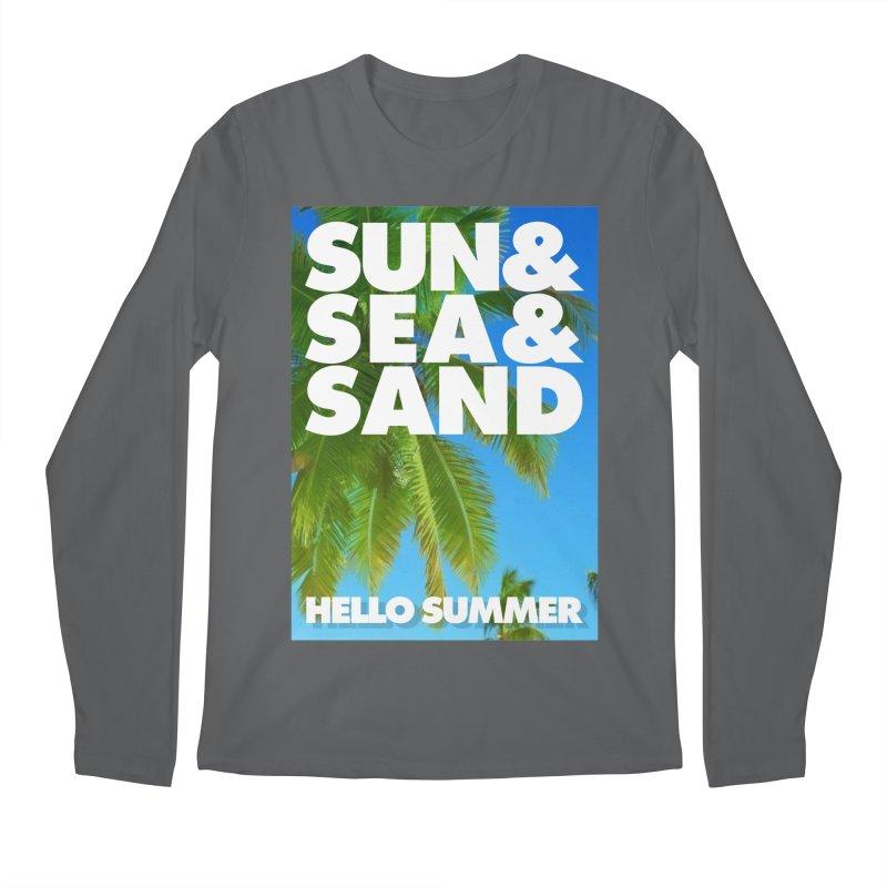 Hello Summer Men's Longsleeve T-Shirt by ALMA VISUAL's Artist Shop