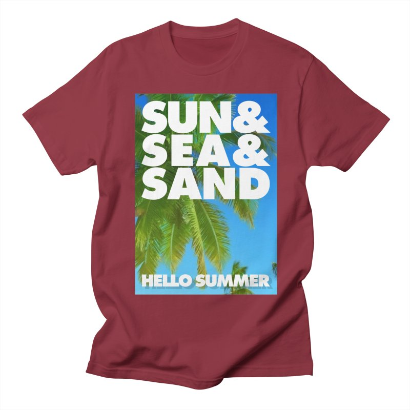 Hello Summer Women's Unisex T-Shirt by ALMA VISUAL's Artist Shop