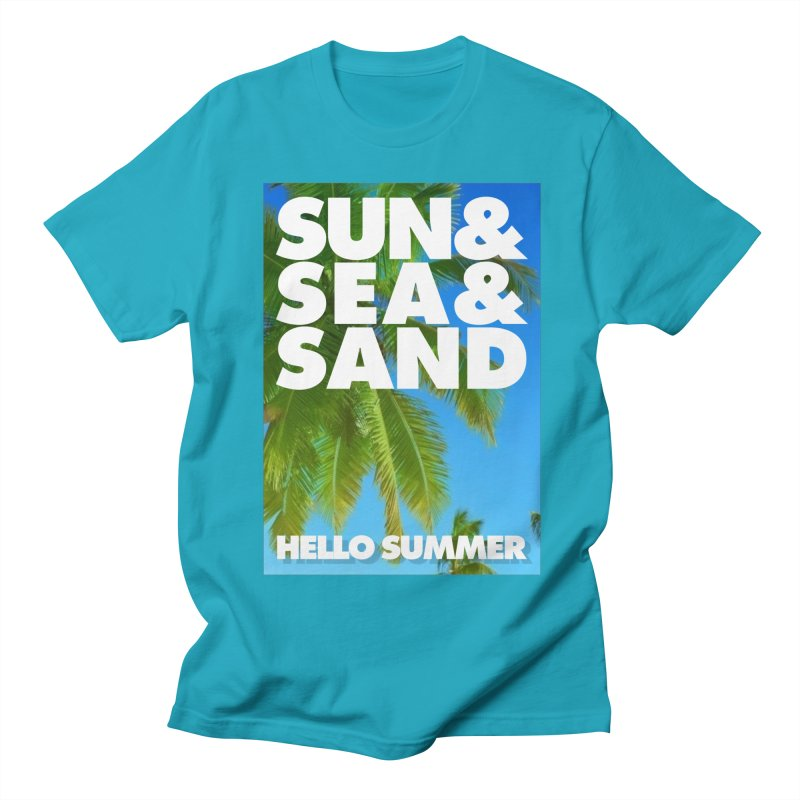 Hello Summer Men's Regular T-Shirt by ALMA VISUAL's Artist Shop