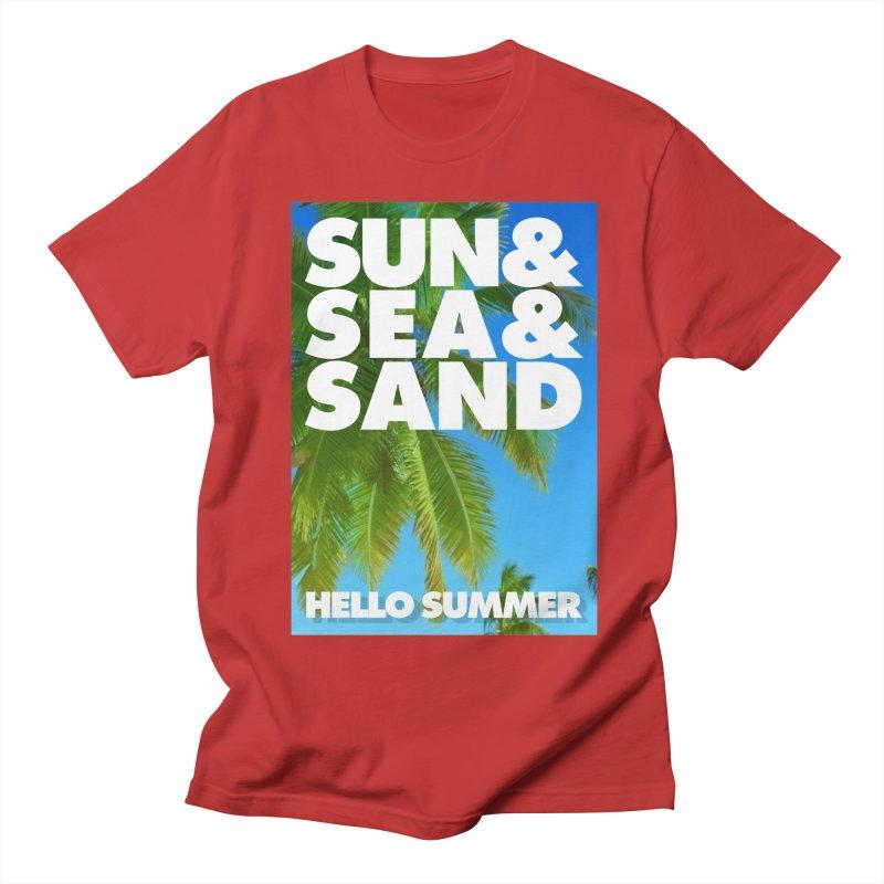 Hello Summer Women's Regular Unisex T-Shirt by ALMA VISUAL's Artist Shop