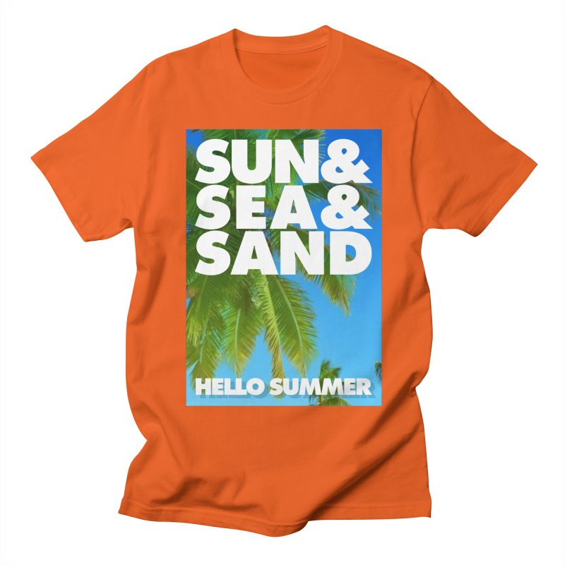 Hello Summer Women's Regular Unisex T-Shirt by ALMA VISUAL's Artist Shop