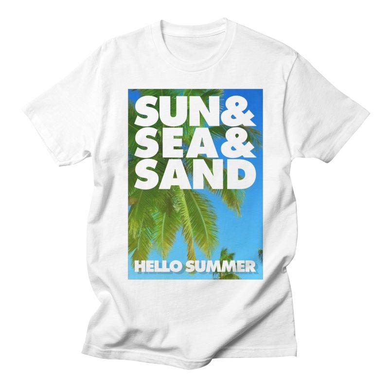 Hello Summer Men's T-Shirt by ALMA VISUAL's Artist Shop