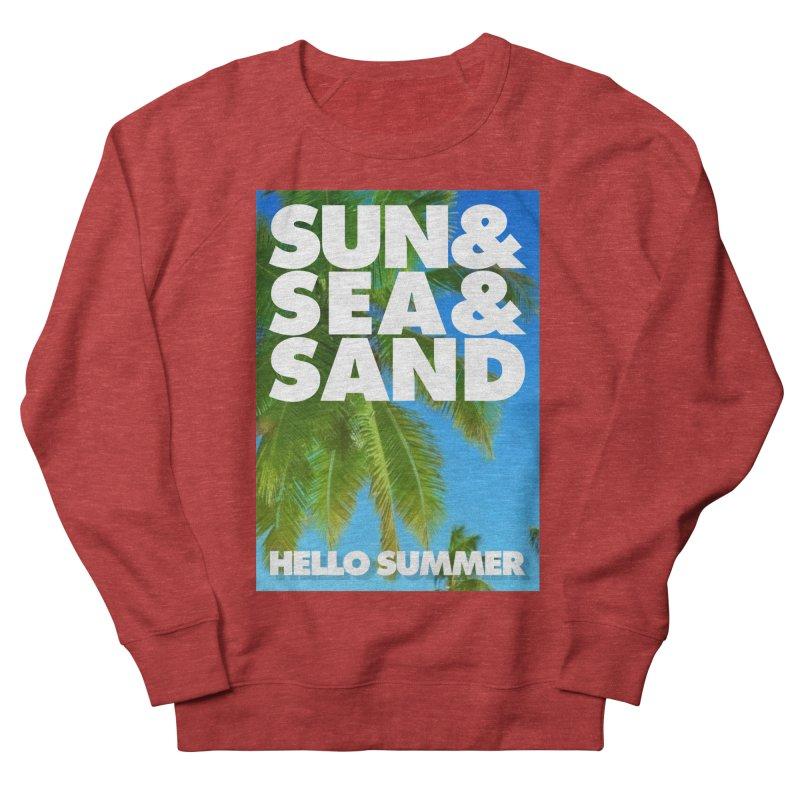 Hello Summer Women's French Terry Sweatshirt by ALMA VISUAL's Artist Shop