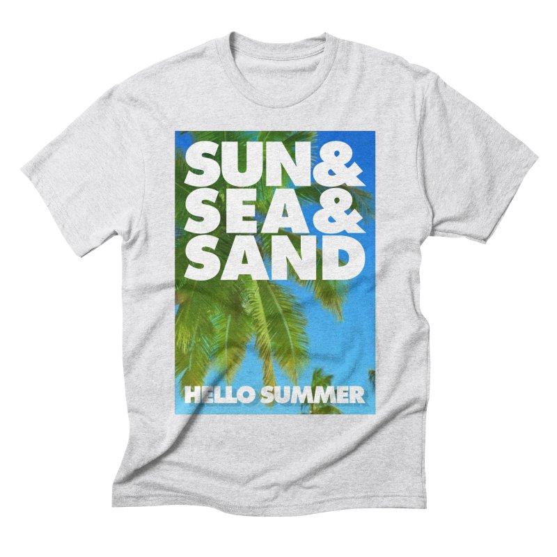 Hello Summer Men's Triblend T-Shirt by ALMA VISUAL's Artist Shop