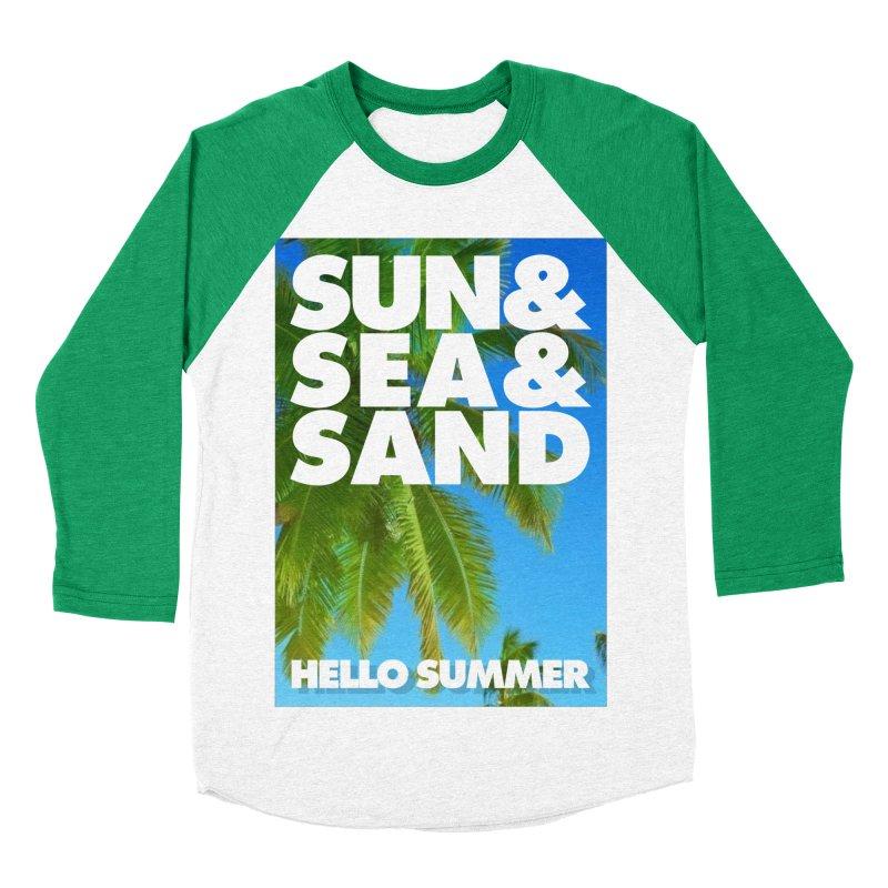 Hello Summer Women's Baseball Triblend Longsleeve T-Shirt by ALMA VISUAL's Artist Shop